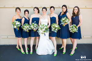 Eco-Chic College Colors Wedding