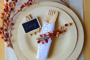 Eco-Friendly Fall Place Settings