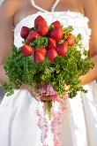 Eco-chic Strawberry Fields Wedding
