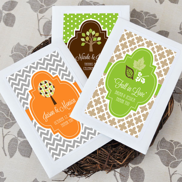 Fall for Love Personalized Wildflower Seed Favors ...