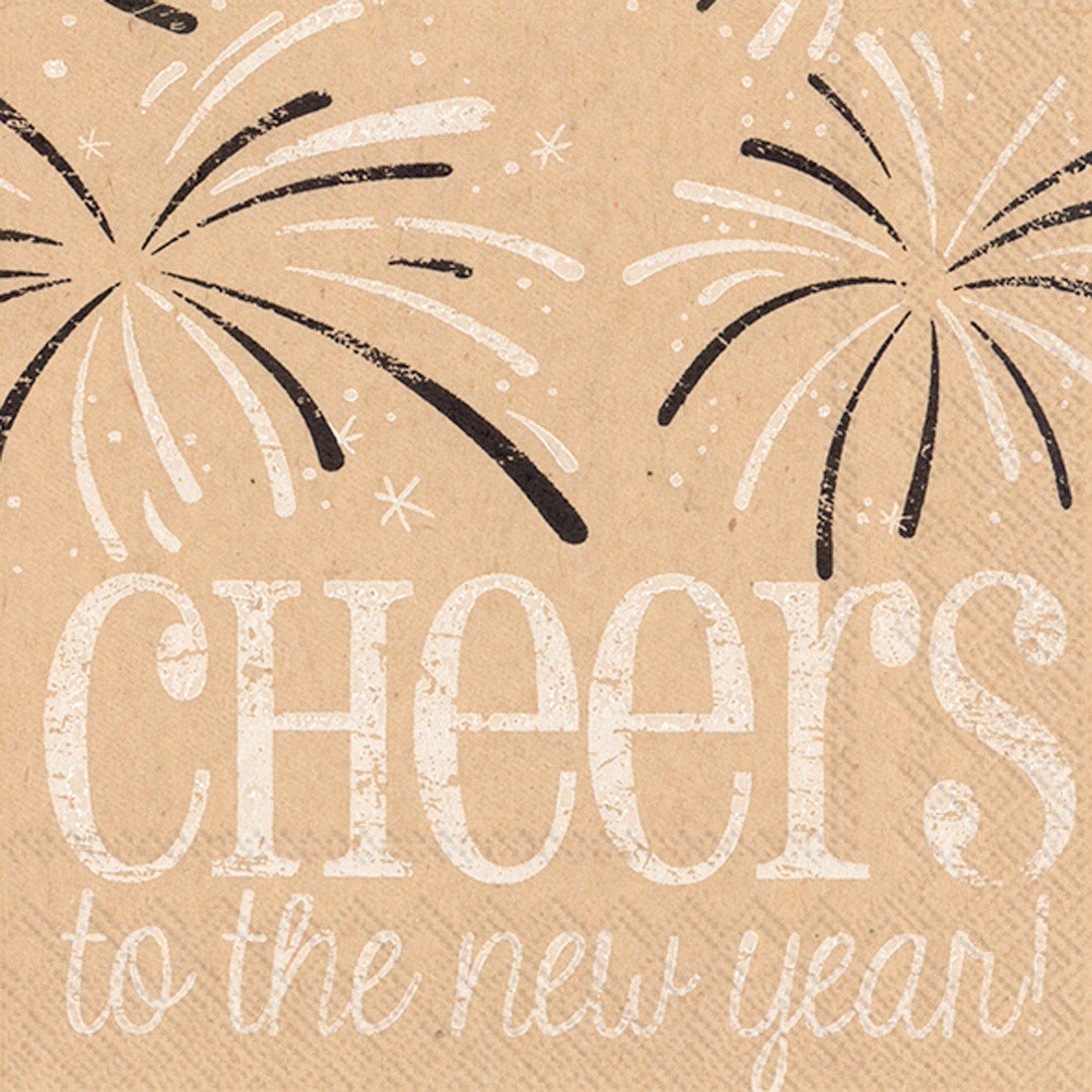 """""""Cheers to the New Year"""" Cocktail Napkins - Pack of 20"""