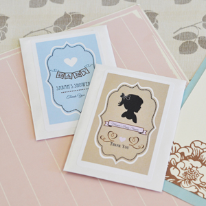 Vintage Baby Personalized Seed Packets