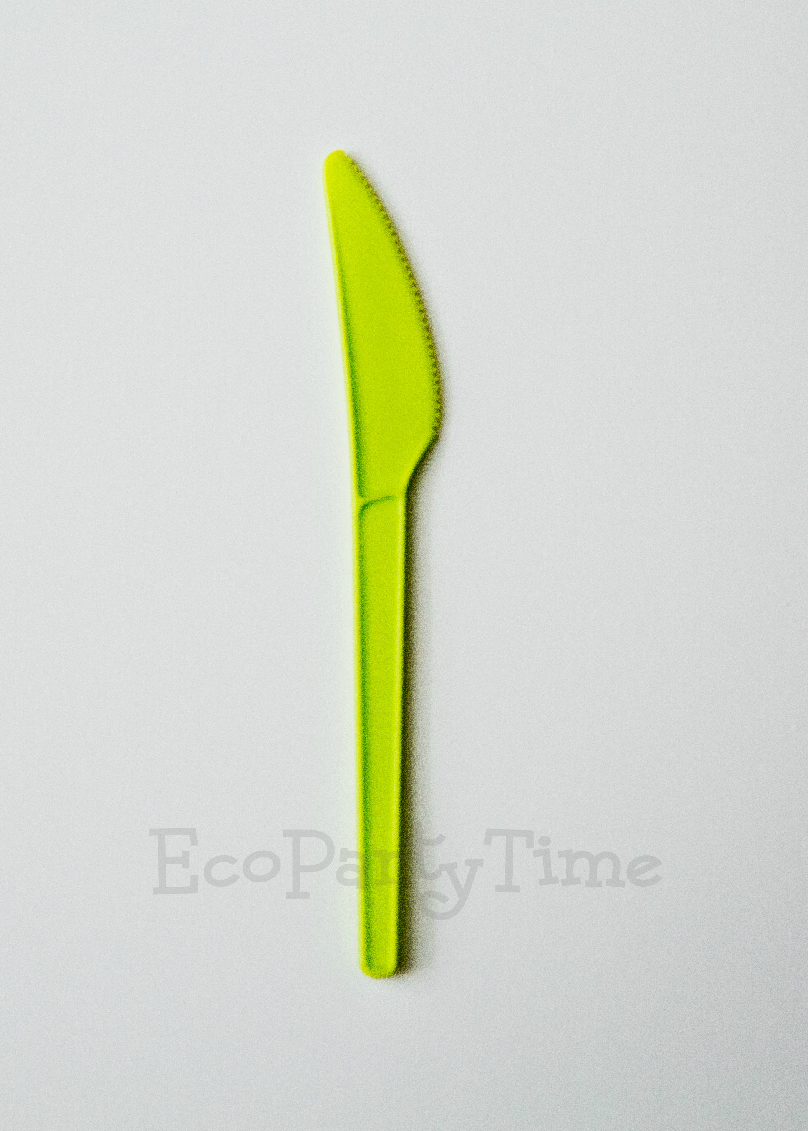 Green Compostable PLA 6 inch Knives - Pack of 50