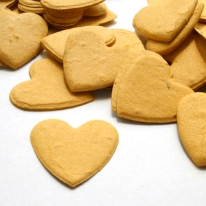 Heart Plantable Confetti - Mustard Yellow - 350 Pieces