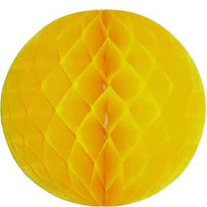 Yellow Honeycomb Tissue Ball Decoration - Multiple Sizes Available