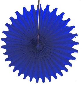 "Blue Honeycomb 18"" Tissue Fan Decoration"