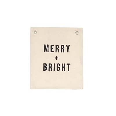 Merry Bright Canvas Banner