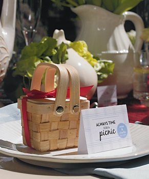 Miniature Woven Picnic Basket - Set of 6 - as low as $10.98