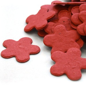 Five Petal Plantable Confetti - Brick Red - 350 Pieces