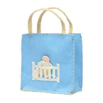 Little Blue Baby Felt Goodie Bag
