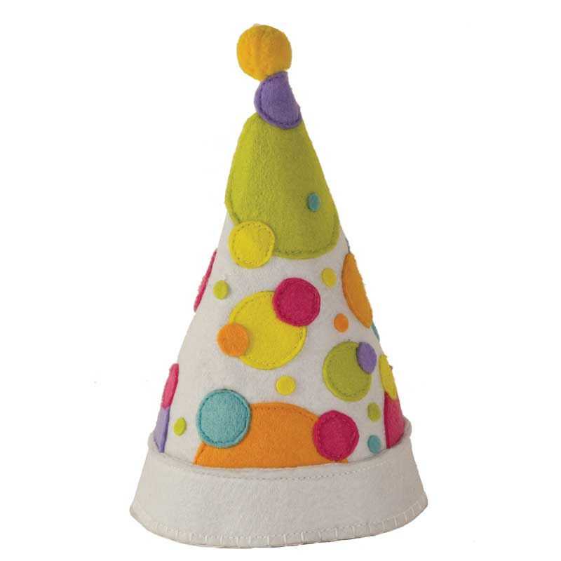 Polka Dot Felt Party Hat