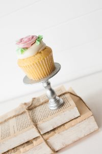 Mini Wooden Cupcake Stand - Silver-only 2 available