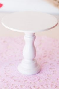 Mini Wooden Cupcake Stand - White-only 3 available