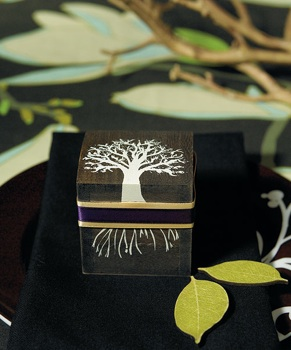 Miniature Wooden Box with Lid in Tree Design - Set of 6 - as low as $16.68