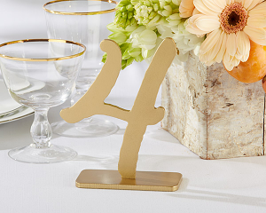 """Good As Gold"" Classic Wood Table Numbers (1-6)"