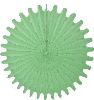 "Mint Honeycomb 18"" Tissue Fan Decoration"