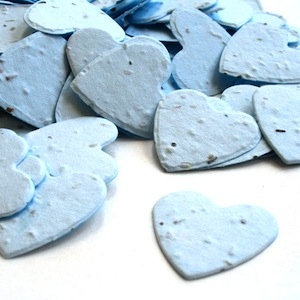 Heart Plantable Confetti - Blue - 350 Pieces