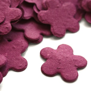 Five Petal Plantable Confetti - Berry Purple - 350 Pieces
