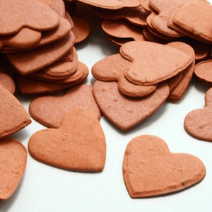 Heart Plantable Confetti - Burnt Orange - 350 Pieces