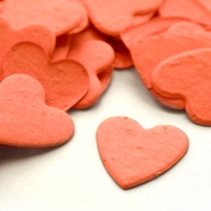 Heart Plantable Confetti - Coral - 350 Pieces