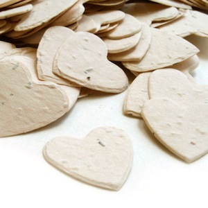 Heart Plantable Confetti - Cream - 350 Pieces