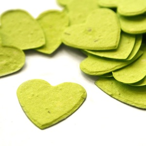 Heart Plantable Confetti - Lime Green - 350 Pieces