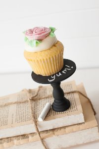 Mini Wooden Cupcake Stand - Chalk