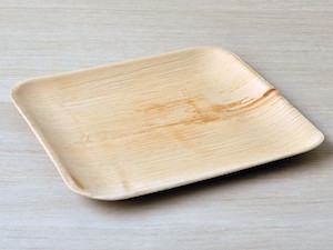 "10"" Square Palm Leaf Plate - Pack of 25"