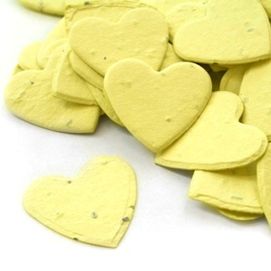 Heart Plantable Confetti - Yellow - 350 Pieces