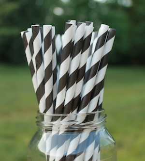 Eco-Friendly Paper Straws - Black