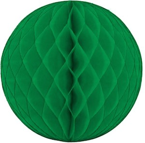 Green Honeycomb Tissue Ball Decoration - Multiple Sizes Available