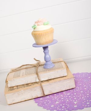 Mini Wooden Cupcake Stand - Lavender-only 3 available