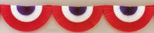 Patriotic Theme 10 Foot Honeycomb Fan Garland
