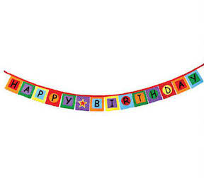 Groovy Felt Colors Happy Birthday Banner - 8' Long
