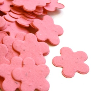Five Petal Plantable Confetti - Hot Pink - 350 Pieces