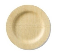 "Bamboo Veneerware 11"" Round Plates-Set of 25 per package"