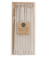Beeswax Birthday Ivory Tall Candles