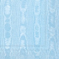 Moiree Light Blue Cocktail Napkin - 20 napkins per package
