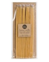 Beeswax Birthday Natural Tall Candles