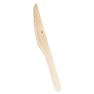 "Packnwood Disposable Wooden 6.5"" Knives - Pack of 100"