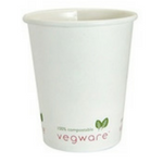 Compostable 10oz White Hot Cup - Pack of 50