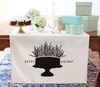 Happy Birthday Cake Table Banner-out of stock