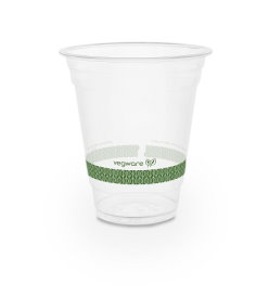 Compostable 12oz Cold Cup with Green Stripe - Pack of 50