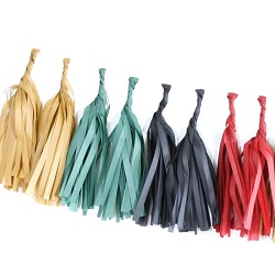 Fireside Tissue Paper Tassel Garland - 6' Long