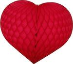Red Honeycomb Tissue Heart Decoration - Multiple Sizes Available