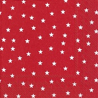 Little Stars Red Cocktail Napkin - 20 napkins per package