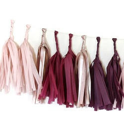 Sultry Tissue Paper Tassel Garland - 6' Long
