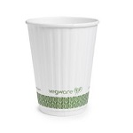 Compostable 12oz White Hot Double Wall Cup - Pack of 25