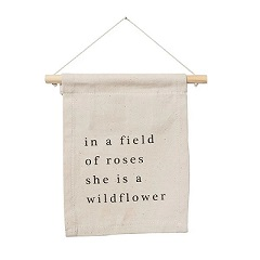 She Is A Wildflower Hang Sign