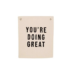 You Are Doing Great Canvas Banner